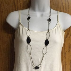 Jewelry - Black and Silver long necklace